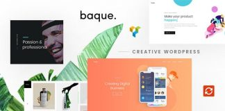 Baque v1.0.5 - Multipurpose Onepage Creative WP Theme