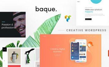 Baque v1.0.5 - Multipurpose Onepage Creative WP Theme