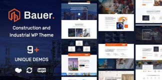 Bauer v1.2 - Construction and Industrial WordPress Theme