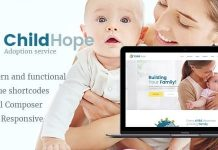ChildHope v1.1.0 - Child Adoption Service & Charity Nonprofit WordPress Theme