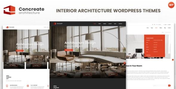 Concreate v1.2 - Interior Architecture Interactive WordPress Theme