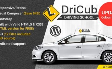 DriCub v1.6 - Driving School WordPress Theme