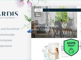 Gardis v1.2.0 - Blinds and Curtains Studio & Shop WordPress Theme