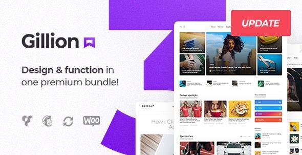 Gillion v3.4.4 - Multi-Concept Blog/Magazine & Shop WordPress Theme
