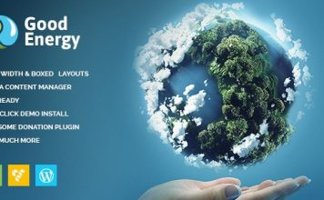 Good Energy v1.6 - Ecology & Renewable Power Company WordPress Theme