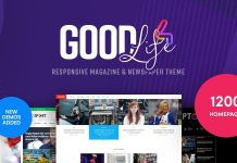 GoodLife v4.1.6.1 - Responsive Magazine Theme