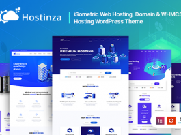Hostinza v1.8.4 - Isometric Domain & Whmcs Web Hosting WordPress Theme