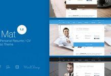 I am Mat v1.2 - Material Personal Resume / CV vCard WordPress Theme