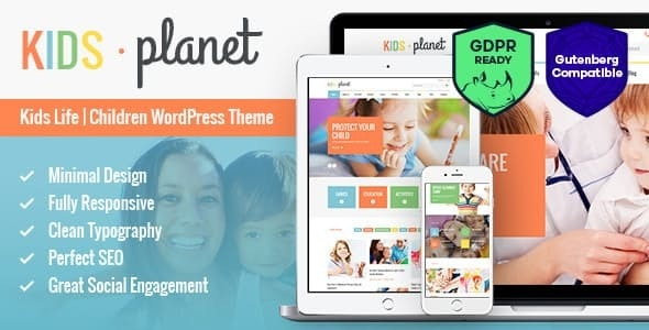 Kids Planet v2.2.3 - A Multipurpose Children WordPress Theme for Kindergarten and Playgroup