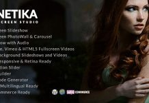 Kinetika v5.1 - Fullscreen Photography Theme