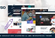 Kipso v1.0.0 - Education LMS WordPress Theme