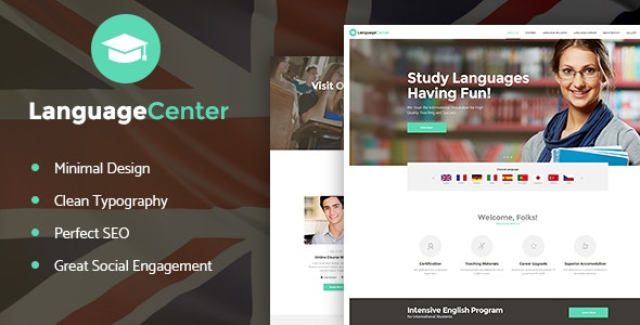 Language Center & Online School Education v1.2 - WordPress Theme