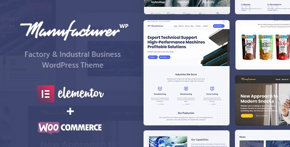 Manufacturer v1.1.6 - Factory and Industrial WordPress Theme