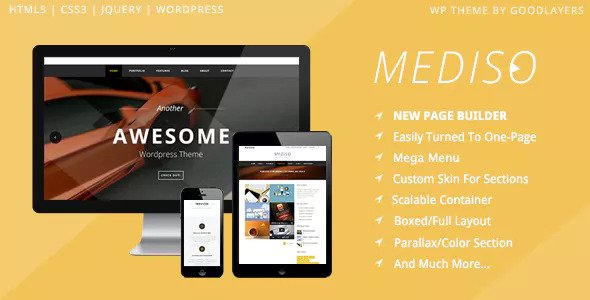 Mediso v1.2.2 - Corporate / One-Page / Blogging WP Theme