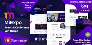 MiExpo v1.0 - Event Conference Elementor WordPress Theme
