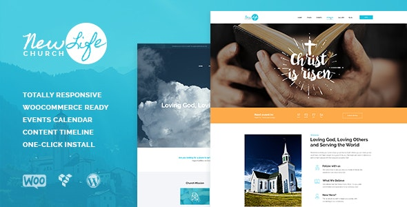 New Life v1.1.3 - Church & Religion WordPress Theme