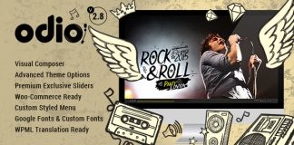 Odio v3.9 - Music WP Theme For Bands, Clubs, and Musicians