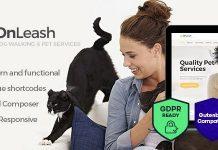 OnLeash v1.3 - Dog Walking & Pet Services Veterinary WordPress Theme