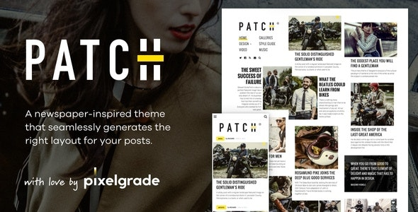 Patch v1.5.0 - Unconventional Newspaper-Like Blog Theme