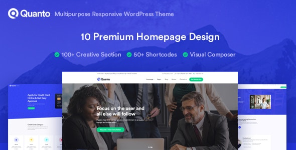 Quanto v1.1.0 - Business Responsive WordPress Theme