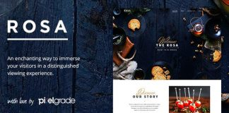 ROSA v2.5.0 - An Exquisite Restaurant WordPress Theme