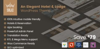 Solaz v1.1.7 - An Elegant Hotel & Lodge WordPress Theme