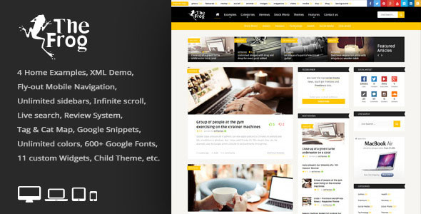 The Frog v3.2 - Creative News/Blog Magazine WP Theme