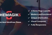 The Magic 6 v1.6 - Music Band & Musician Artist WordPress Theme