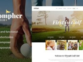 Triompher v1.1.0 - Golf Course & Sports Club WordPress Theme