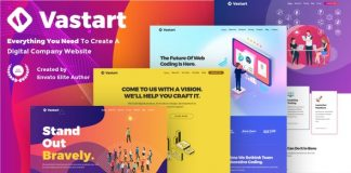 Vastart v1.2.14 - Digital Company & Startup WordPress Theme