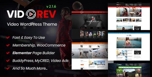VidoRev v2.6.8 - Video WordPress Theme