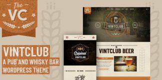 VintClub v1.0.4 - A Pub and Whisky Bar WordPress Theme