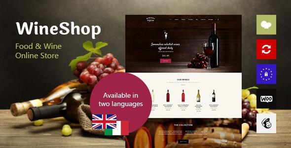 WineShop v2.3.1 - Food & Wine Online Store WordPress Theme