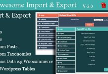 WordPress Awesome Import & Export Plugin v3.2.1