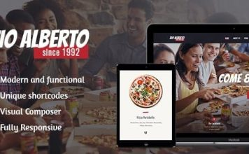 Zio Alberto v1.2.2 - Pizza Restaurant, Cafe & Bistro WordPress Theme