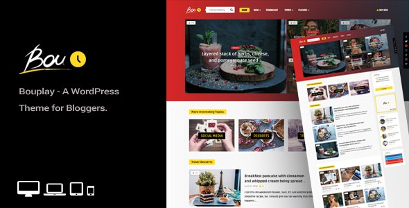 Bouplay WP v1.9 - A WordPress Theme for Bloggers