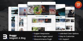Buggy v2.0.0 - Magazine & Blog WordPress Themes