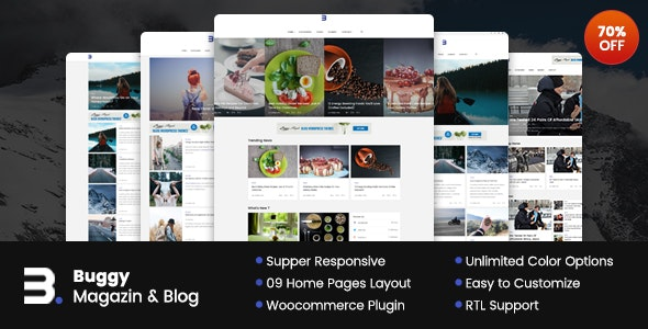 Buggy v2.0.0 - Magazine & Blog WordPress Themes