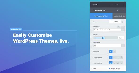 CSSHero v4.0.6.1 - Live Editor for WordPress