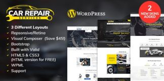 Car Repair Services & Auto Mechanic WordPress Theme v2.8