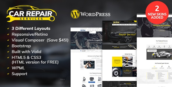 Car Repair Services Auto Mechanic Wordpress Theme V2 8