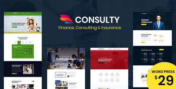 Consulty v1.0 - Business Finance WordPress Theme
