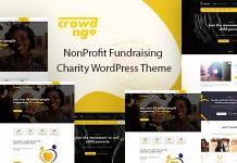 Crowdngo v1.0.1 – Fundraising Charity WordPress Theme