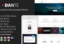 Dante v3.5.14 - Responsive Multi-Purpose WordPress Theme