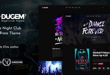 Dugem v1.2 - Dance Night Club WordPress Theme