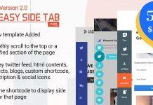 Easy Side Tab Pro v2.0.1 - Responsive Floating Tab Plugin For WordPress
