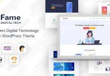 Fame v1.2 - Digital Technology/Service WordPress Theme