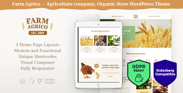 Farm Agrico v1.2.2 - Agricultural Business WordPress Theme