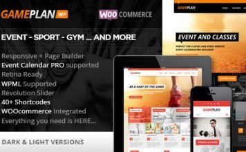 Gameplan v1.6.1 - Event and Gym Fitness Theme