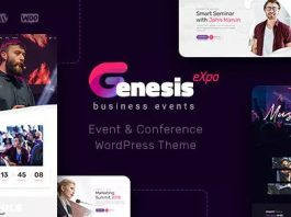 GenesisExpo v1.2.5 - Business Events & Conference Theme